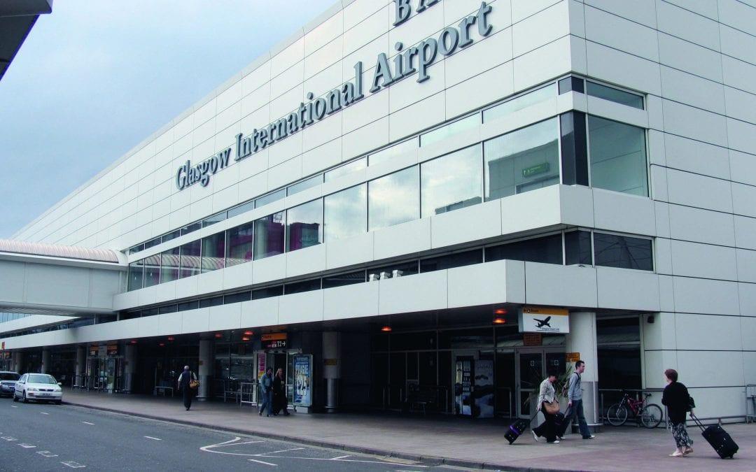 Glasgow Airport Zebra Crossings